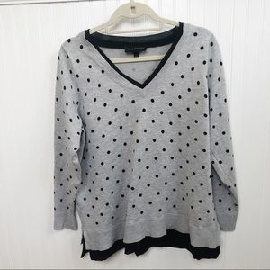 Lane Bryant Gray & Black Polka Dot Sweater 18/20